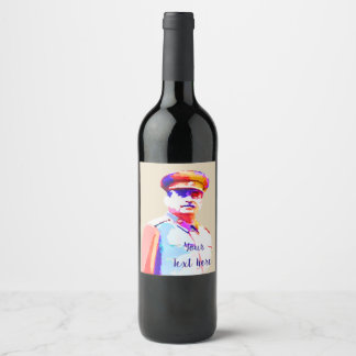 Rótulo De Garrafa De Cerveja Ditador Colorido de Josef Stalin WW2 Rússia do