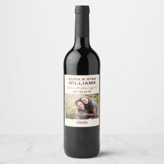 Rótulo De Garrafa De Cerveja Favor personalizado | da foto do vinho do