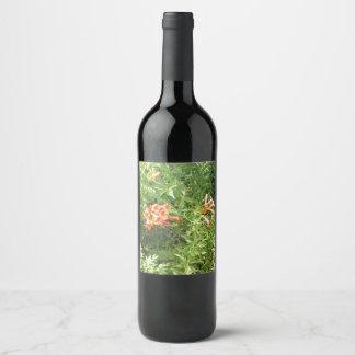 Rótulo De Garrafa De Cerveja Flores selvagens vermelhas