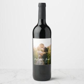 Rótulo De Garrafa De Cerveja Foto simples do casamento