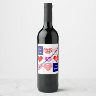 Rótulo De Garrafa De Cerveja Ganhe o jogo de amor