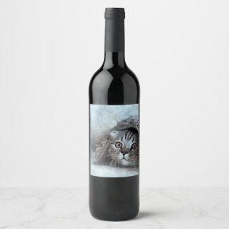Rótulo De Garrafa De Cerveja gato