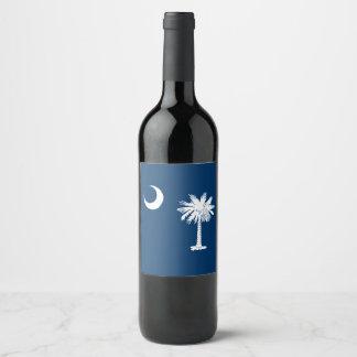 Rótulo De Garrafa De Cerveja Gráfico dinâmico da bandeira do estado de South
