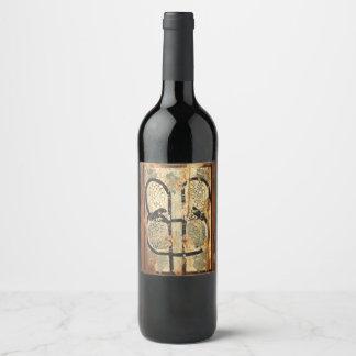 Rótulo De Garrafa De Cerveja história velha do vintage de madeira medieval da
