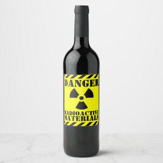 Rótulo De Garrafa De Cerveja Material radioactivo engraçado o Dia das Bruxas