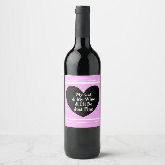 Rótulo De Garrafa De Cerveja Meu gato & meus vinho & eu serão apenas finos