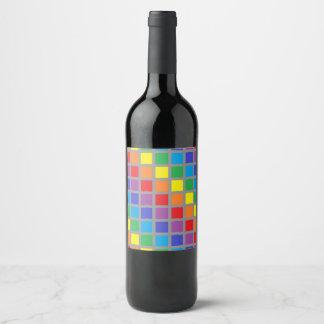 Rótulo De Garrafa De Cerveja O arco-íris esquadra o carvão vegetal