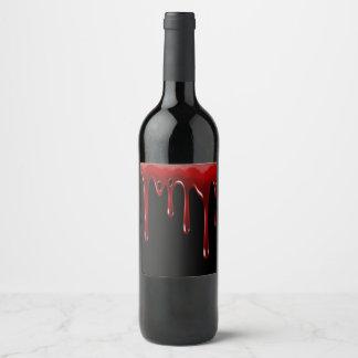 Rótulo De Garrafa De Cerveja O sangue de Falln goteja o preto