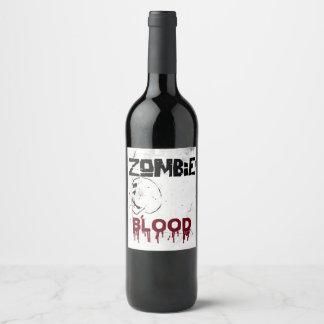 Rótulo De Garrafa De Cerveja Partido do tema do apocalipse do zombi