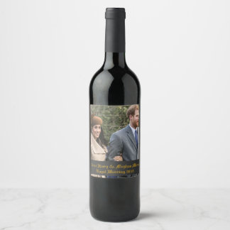 Rótulo De Garrafa De Cerveja Príncipe Harry & casamento real 2018 de Meghan