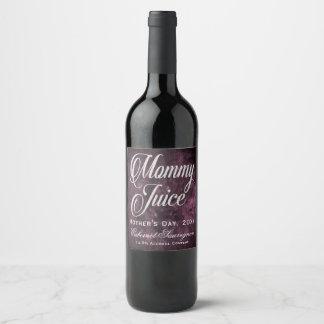 Rótulo De Garrafa De Cerveja Roxo do Sangria da uva do dia das mães do suco das