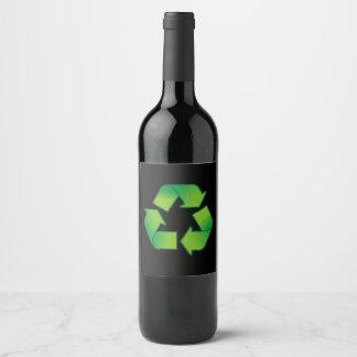 Rótulo De Garrafa De Cerveja Símbolo do reciclagem