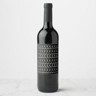 Rótulo De Garrafa De Cerveja Teste padrão inicial do monograma, letra C no