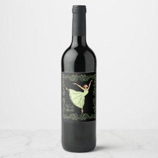 Rótulo De Garrafa De Cerveja Vin de Bailarina Benevolência