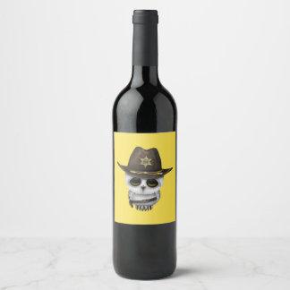 Rótulo De Garrafa De Cerveja Xerife bonito da coruja do bebê