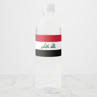 Rótulo De Garrafa De Vinho Bandeira de Iraque