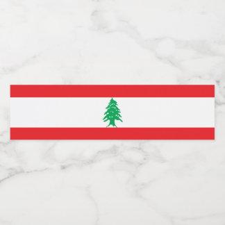 Rótulo De Garrafa De Vinho Bandeira de Líbano