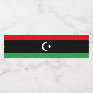 Rótulo De Garrafa De Vinho Bandeira de Líbia