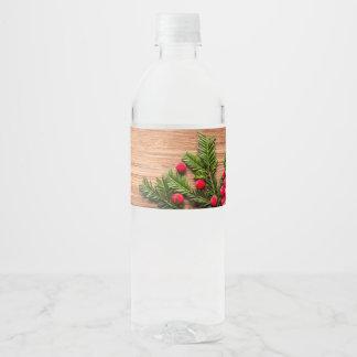 Rótulo De Garrafa De Vinho Garrafa de água v1 - Pinho & bagas
