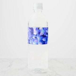 Rótulo De Garrafa De Vinho Hydrangeas de Tanzanite