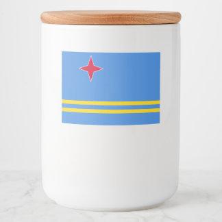 Rótulo Para Comida Bandeira de Aruba