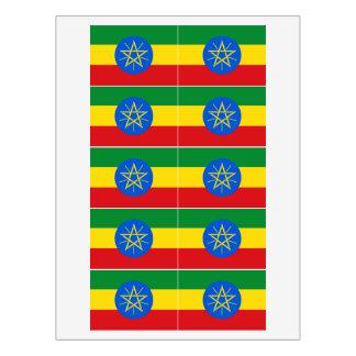 Rótulo Para Comida Bandeira de Etiópia