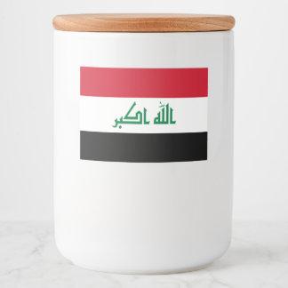 Rótulo Para Comida Bandeira de Iraque