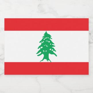 Rótulo Para Comida Bandeira de Líbano