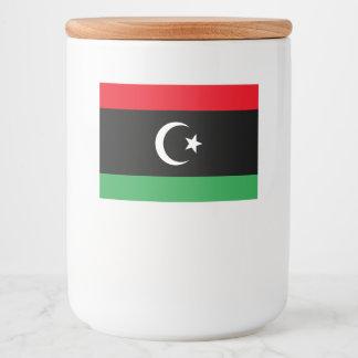 Rótulo Para Comida Bandeira de Líbia
