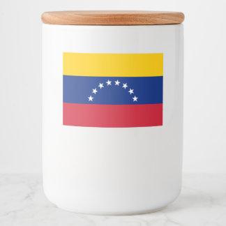 Rótulo Para Comida Bandeira de Venezuela