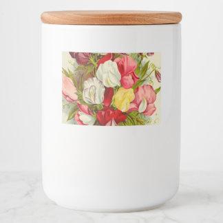 Rótulo Para Comida Buquê de flores da ervilha doce