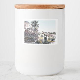 Rótulo Para Comida Colosseum em Roma, Italia