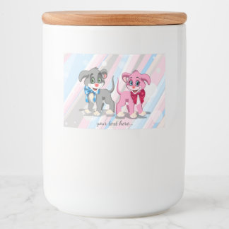 Rótulo Para Comida Desenhos animados dos filhotes de cachorro do