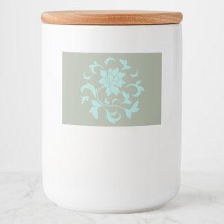 Rótulo Para Comida Flor oriental - circular de Shell do Limpet