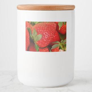 Rótulo Para Comida Morangos doces vermelhas