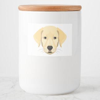 Rótulo Para Comida Ouro Retriver do filhote de cachorro da ilustração