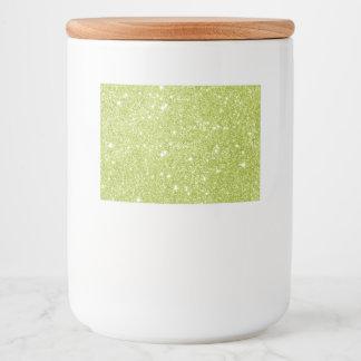 Rótulo Para Comida Sparkles do brilho do verde limão