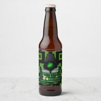 Rótulo Para Garrafa De Cerveja Binário de QR