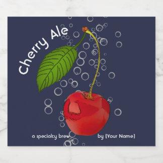 Rótulo Para Garrafa De Cerveja Cerveja inglesa borbulhante da cereja