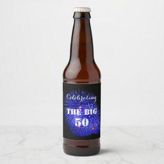 Rótulo Para Garrafa De Cerveja Comemorando os 50 GRANDES -