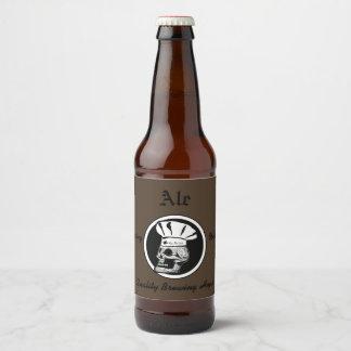 Rótulo Para Garrafa De Cerveja Cozinheiro chefe do crânio - cerveja inglesa