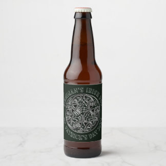 Rótulo Para Garrafa De Cerveja De St Patrick irlandês do bar da imagem celta o