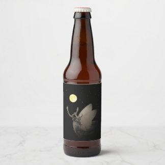 Rótulo Para Garrafa De Cerveja Famoso & rico, vazio