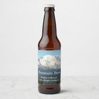 Rótulo Para Garrafa De Cerveja Foto do Monte Rainier