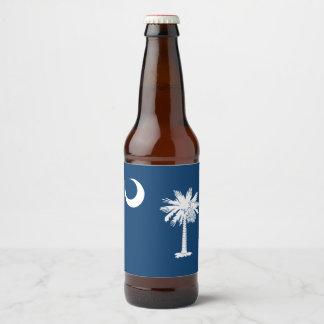 Rótulo Para Garrafa De Cerveja Gráfico dinâmico da bandeira do estado de South