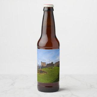 Rótulo Para Garrafa De Cerveja Ruínas do castelo de Urquhart ao longo de Loch