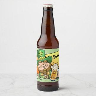 Rótulo Para Garrafa De Cerveja Santo do dia de St Patrick feito sob encomenda da