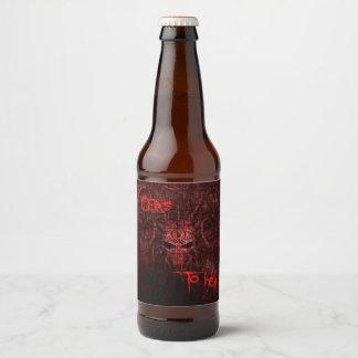 Rótulo Para Garrafa De Cerveja Vai ao inferno
