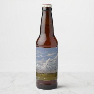 Rótulo Para Garrafa De Cerveja Vazio vermelho minúsculo da Casa da quinta, para