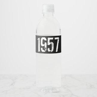 Rótulo Para Garrafa De Vinho Ano do aniversário do nascer em 1957